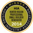 2014 HIA Hunter Region Professional Small Builder/Renovator